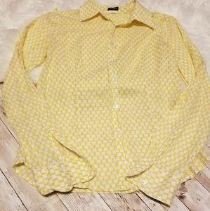J.Crew long sleeve button up yellow tee